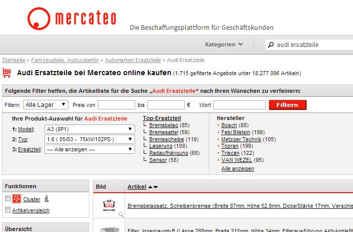 Ersatzteilsuche Automarke 2