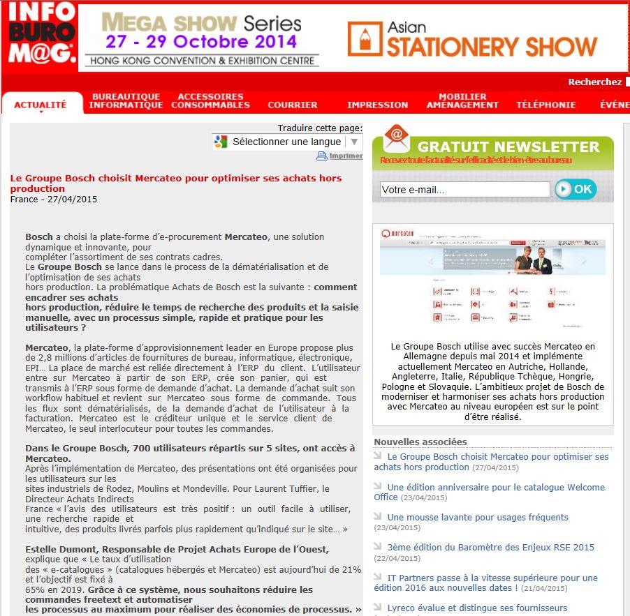 Mercateo articles de presse publication sur mercateo for Buro en ligne