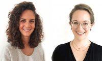 Studienleiterin Dr. Laura Bechthold (r.) und Studentin Maira Tolardo-Mooser analysieren die gesammelten Daten.
